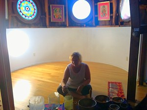yoga and sound healing at integral yoga institute