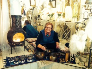 vocal meditation and sound healing at the small faery shop