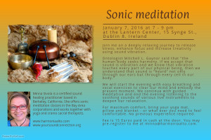 Sound healing and vocal meditation in Dublin