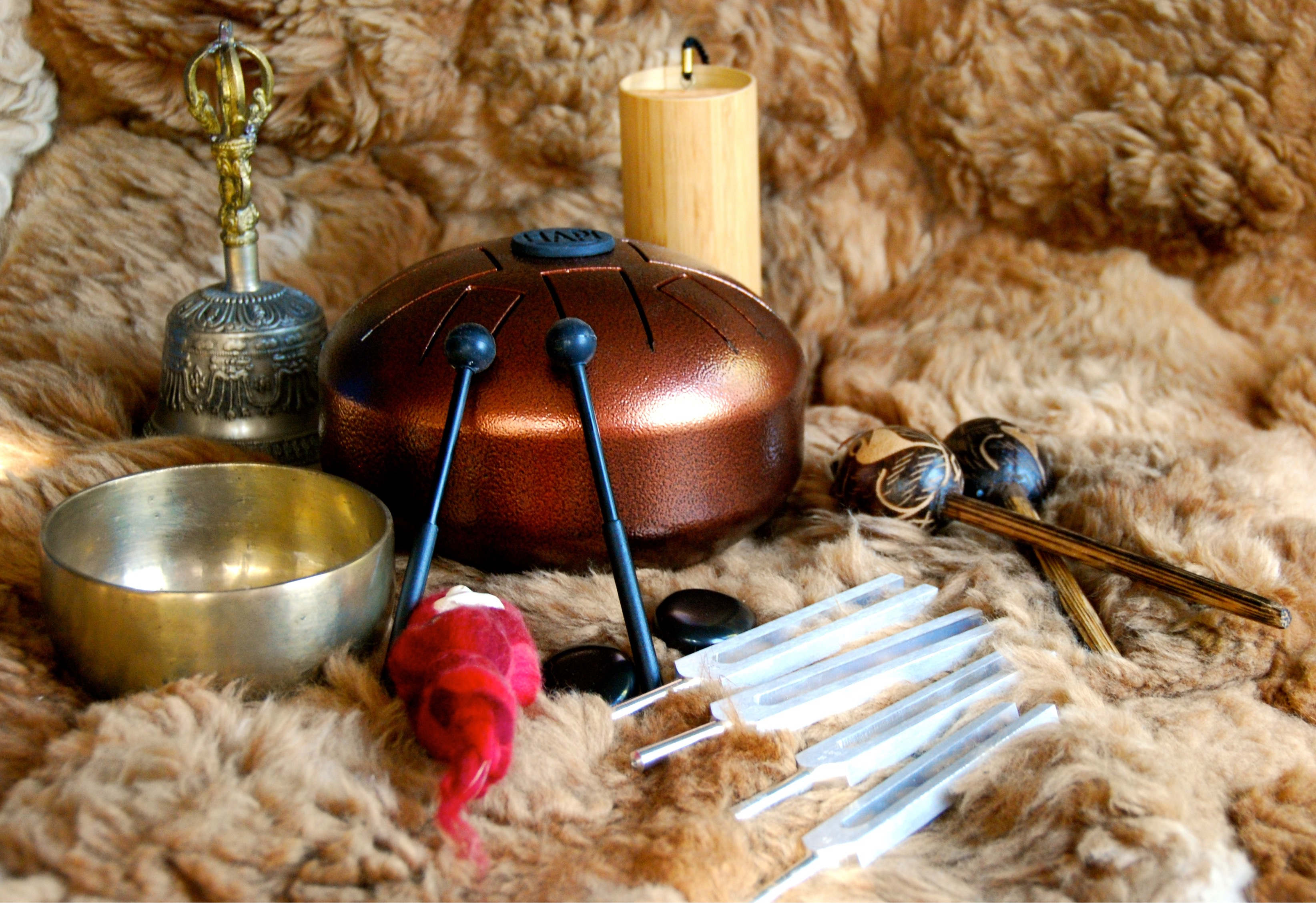 Tibetan Singing Bowls Musical Instruments Brass Buddhist ...